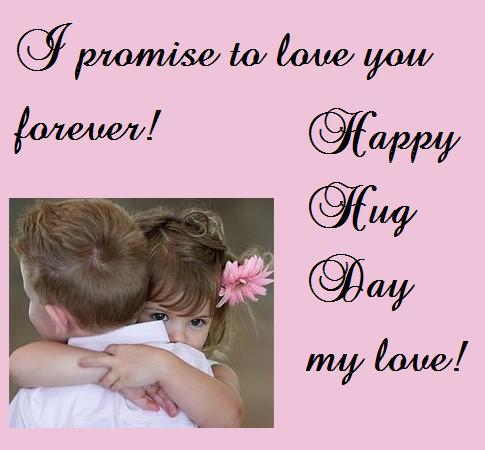 Promise To Love You: Happy Hug Day