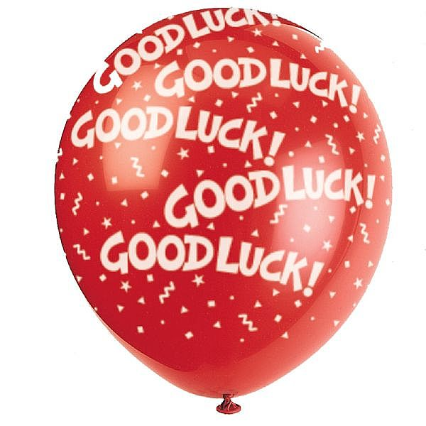 Good Luck Balloon Graphic for Fb Share