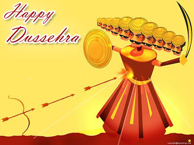 Happy Dussehra Ravan Picture for Facebook Sharing