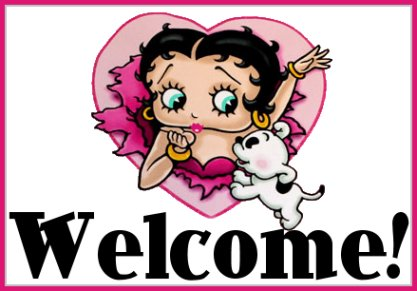 Welcome Betty Boop Graphic