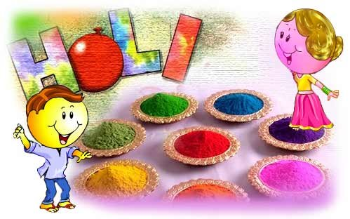 Holi Celebration with Colours