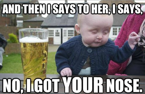 I says to her.. Funny Baby Image