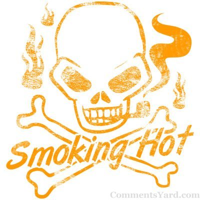 Smoking Hot Skull Picture