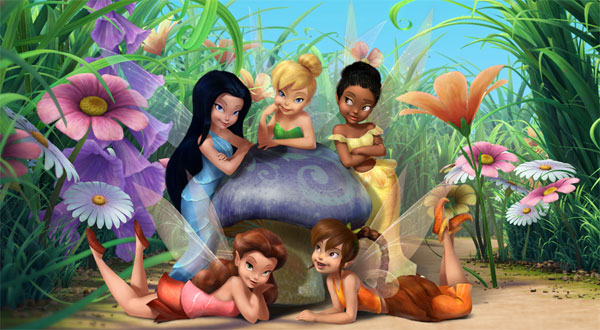 Tinkerbell with the Friends