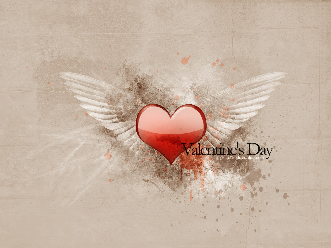 Valentine's Day Heart Angel Picture
